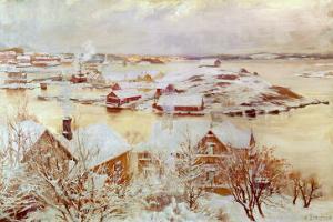 December Day by Albert Edelfelt