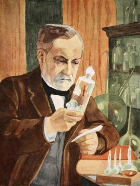 Pasteur in His Laboratory, Copy by Boris Mestchersky by Albert Edelfelt