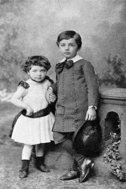 Albert Einstein, (1879-195), Theoretical Physicist, and His Sister Maja as Small Children, 1880S