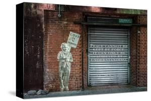 """Albert Einstein """"Love Is the Answer"""" NYC Wall Scene with Quote"""