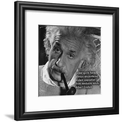 Albert Einstein--Framed Art Print