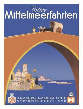 Unsere Mittelmeerfahrten (Our Mediterranean Cruises) - (Hamburg-American Line) by Albert F?ss