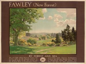 Fawley (New Forest), Poster Advertising Southern Railway by Albert George Petherbridge