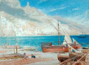 Amalfi, 1900 by Albert Goodwin