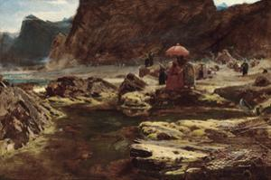 The Sultan and his Camp by the Enchanted Lake, 1888 by Albert Goodwin