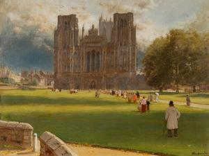 Wells Cathedral, 1889 by Albert Goodwin