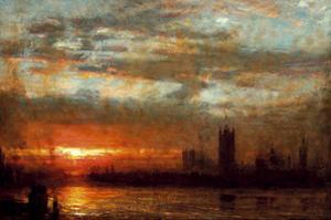 Westminster Sunset, London by Albert Goodwin