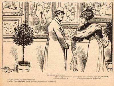 At the Salon D'Automne, from 'Le Rire', 11 November 1905