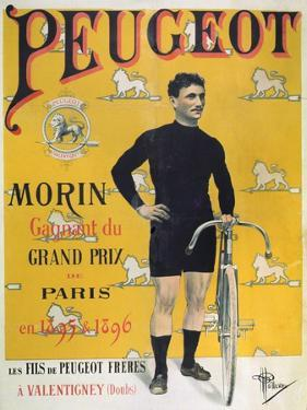 Poster Advertising the Cycles 'Peugeot', 1896 by Albert Guillaume
