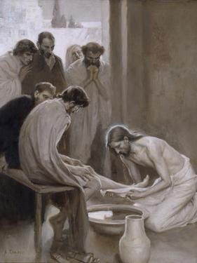 Jesus Washing the Feet of his Disciples, 1898 by Albert Gustaf Aristides Edelfelt