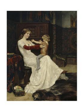 Queen Blanche of Namur by Albert Gustaf Aristides Edelfelt