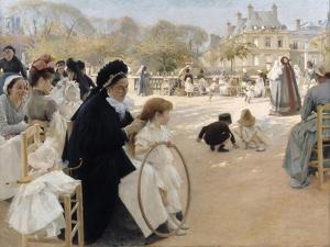 The Luxembourg Gardens, Paris by Albert Gustaf Aristides Edelfelt