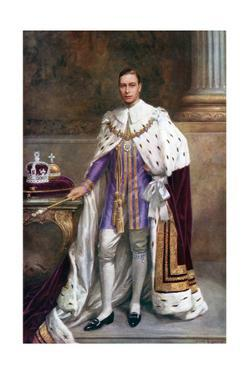 King George VI in Coronation Robes, 1937 by Albert Henry Collings