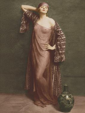 Yasmin, Portrait - Classic Vintage French Nude - Hand-Colored Tinted Art by Albert Henry Collings