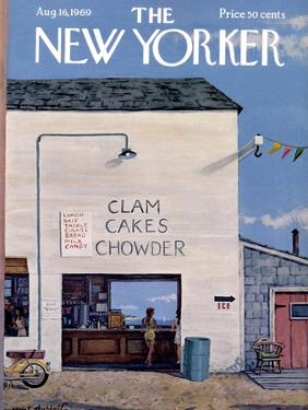 The New Yorker Cover - August 16, 1969 by Albert Hubbell