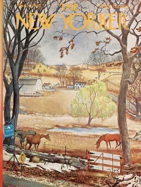 The New Yorker Cover - March 18, 1967 by Albert Hubbell