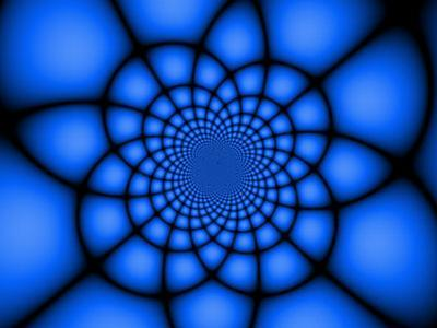 Abstract Blue Fractal Design
