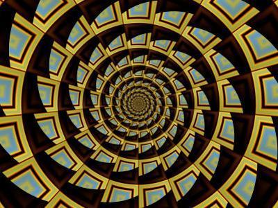 Abstract Circular Fractal Design