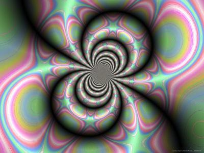 Abstract Design on Multi-Coloured Background