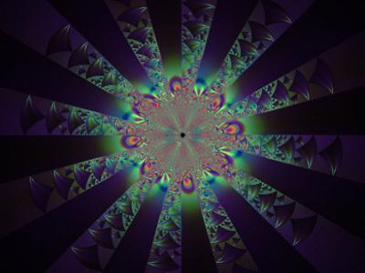 Abstract Fractal Design on Dark Background