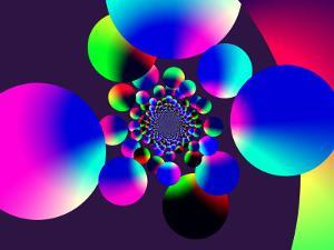 Abstract Pattern with Multi-Coloured Circles by Albert Klein