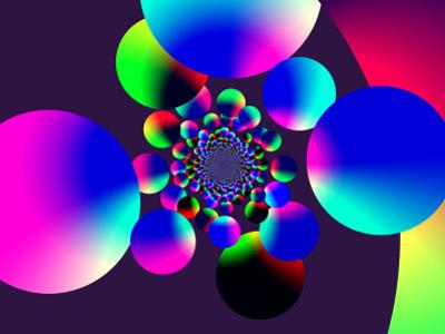 Abstract Pattern with Multi-Coloured Circles