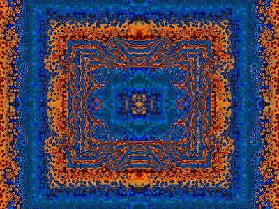 Blue and Orange Morrocan Style Fractal Design