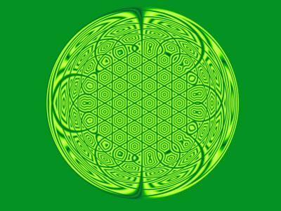 Celtic Fractal Pattern on Green Background