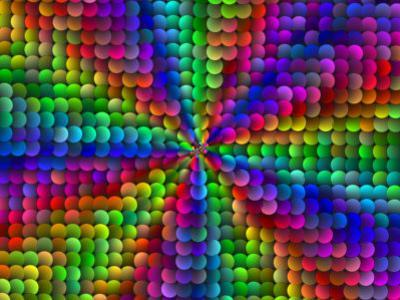 Multi-Coloured Abstract Fractal Pattern with Circular Shapes