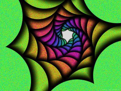Multi-Colured Abstract Spiral Pattern
