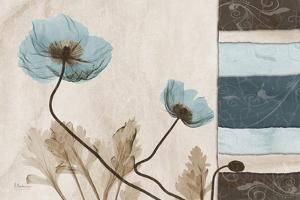 Blu Scroll Poppies by Albert Koetsier