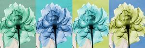 Blue Green Flowers 1 by Albert Koetsier