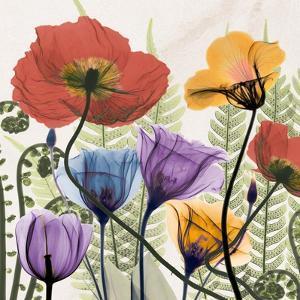 Flowers And Ferns by Albert Koetsier