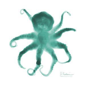 Teal Octopus by Albert Koetsier