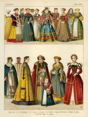 German Costume 1550-1600 by Albert Kretschmer