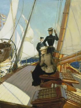 An Afternoon on the Sailing Boat by Albert Lynch