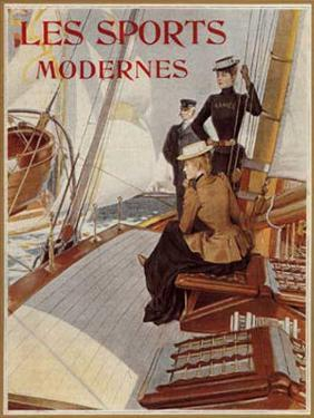 Les Sports Modernes,Yachting by Albert Lynch