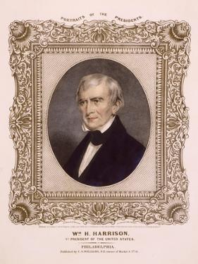 US president William Henry Harrison, 1846 by Albert Newsam
