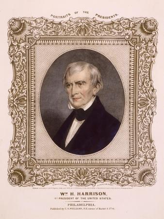 US president William Henry Harrison, 1846