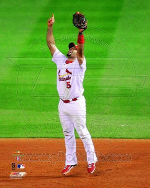 Albert Pujols Celebrates Winning Game 7 of the 2011 MLB World Series (#39)