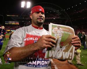 Albert Pujols Celebrates Winning Game 7 of the 2011 MLB World Series (#41)