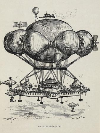 A Flying Casino Supported by Air Ballons and Other Air Machines