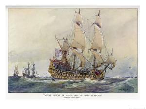 First-Class French Warship Commissioned for Louis XIV by His Minister Colbert by Albert Sebille
