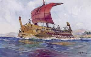 Light Fighting Ship from Classical Greece by Albert Sebille