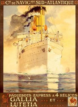 Navigation Sud Atlantique by Albert Sebille