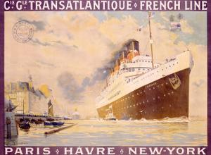 Transatlantique, French Line by Albert Sebille