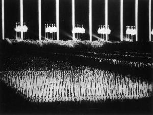 """Albert Speer's """"Cathedral of Light"""" at the Nuremberg Rally"""