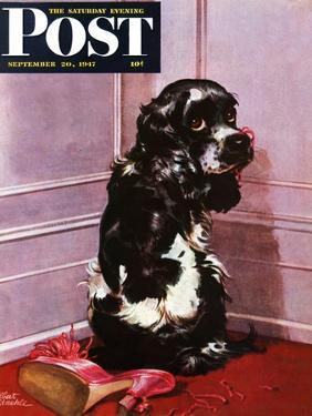 """""""Bad Dog, Butch,"""" Saturday Evening Post Cover, September 20, 1947 by Albert Staehle"""