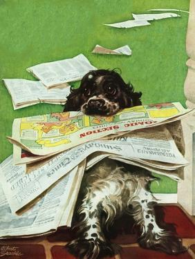 """""""Butch and the Sunday Paper,"""" May 31, 1947 by Albert Staehle"""