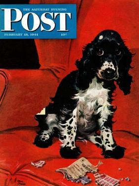 """Butch Ate the Coupons,"" Saturday Evening Post Cover, February 19, 1944 by Albert Staehle"